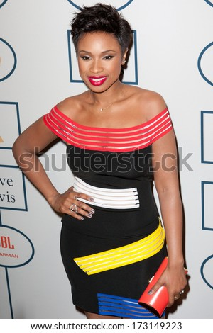 BEVERLY HILLS, CA. - JANUARY 25: Jennifer Hudson arrives at the Clive Davis and The Recording Academy annual Pre-GRAMMY Gala on January 25th 2014 at the Beverly Hilton in Beverly Hills, California.