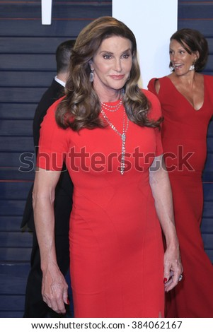 BEVERLY HILLS - FEB 28: Caitlyn Jenner at the 2016 Vanity Fair Oscar Party on February 28, 2016 in Beverly Hills, California
