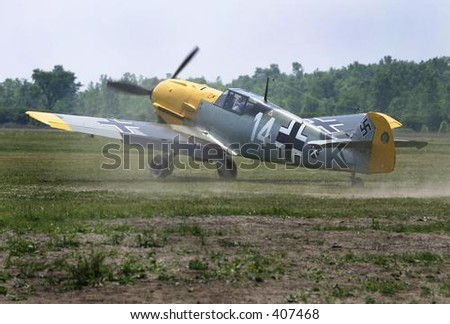 BF-109 Messerschmitt. Take off