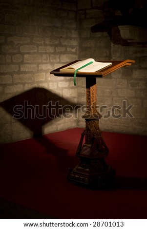 bible in a church