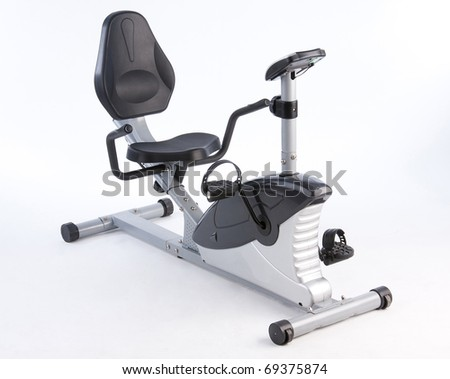 Bicycle exercise machine could adjustable seat an image isolated on    Bicycle Exercise Machine
