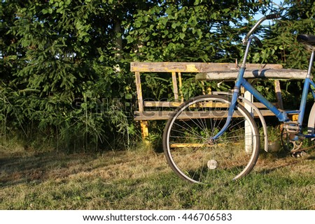 bicycle on a rural nature