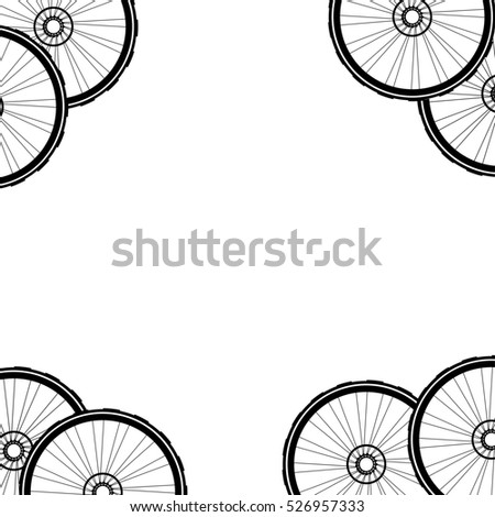 Bicycle wheel, bike wheels background pattern