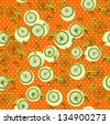 bicycles, seamless vintage pattern - stock vector
