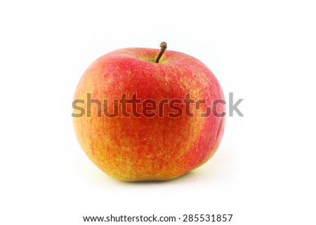 big beautiful ripe apple red as an element of food