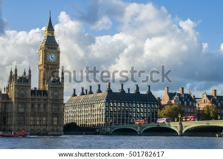 Big Ben, Bridge and Palace of Westminster, London