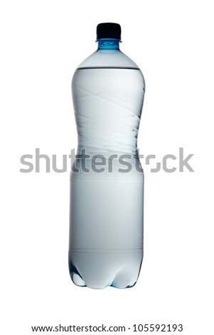 big bottle of water isolated on a white background in studio