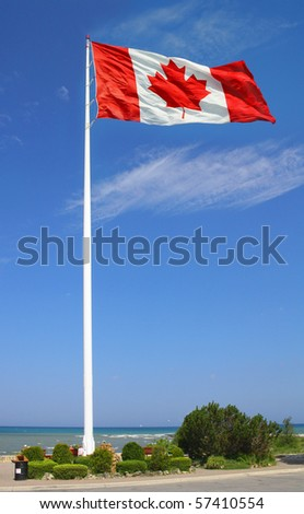Big Canadian flag.
