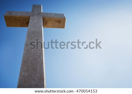 Big Cross at Mount Filerimos on the Island of Rhodes, Greece