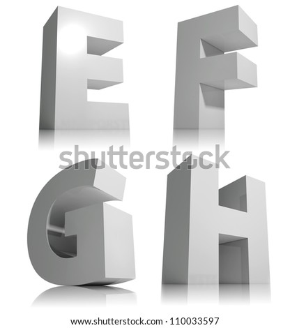 Big 3d Letters Isolated On White Stock Illustration 110033603 ...