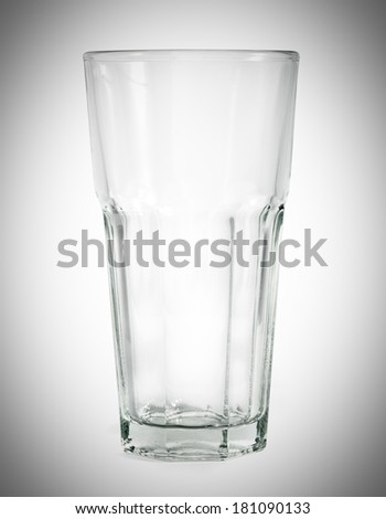 big glass isolated on a white background