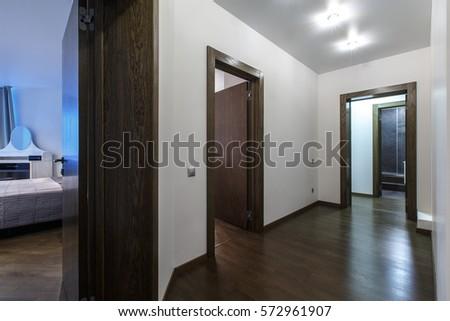 Apartment Building Front Door modern black front door new luxury stock photo 249031933