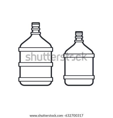 Bottle Water Black Colour 273254507