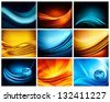Big set of business elegant colorful abstract backgrounds. Raster version of vector - stock photo