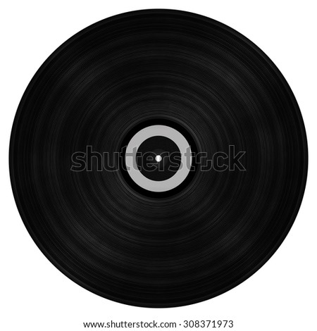 Big vinyl record - isolated object