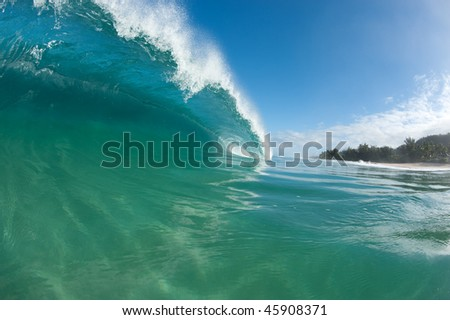 big wave on north shore of Oahu
