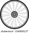 Bike wheel isolated on white background. bicycle wheel Icon - stock vector