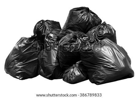 Bin Bag Garbage Bintrash Garbage Rubbish Stock Photo ...