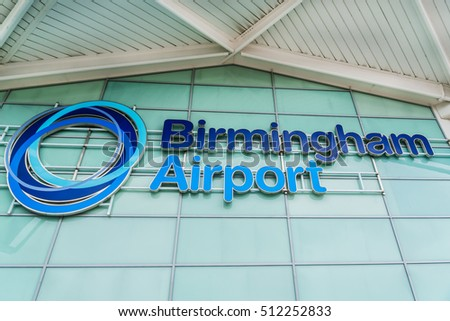 BIRMINGHAM, UK - AUGUST 13, 2016: Birmingham International Airport. Passenger throughput in 2015 was over 10.1 million, making Birmingham the seventh busiest UK airport.