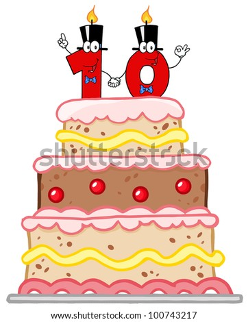birthday cake with candles birthday cake vector design age candle stock vector 1788