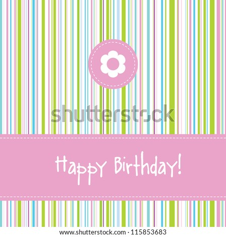 Birthday greeting card with copy space
