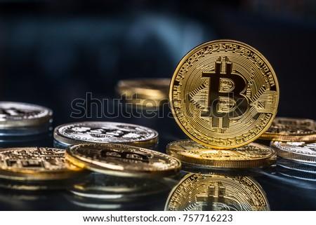 Mining golden bitcoins coin bitcoin gold stock photo 723563416 golden and silver bitcoins virtual cryptocurrency ccuart Gallery