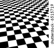 black and white chessboard - stock photo