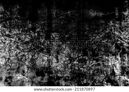 Black and white grunge texture background, use for overlay on image to get a vintage look