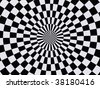 black and white hypnotic wallpaper background - stock photo