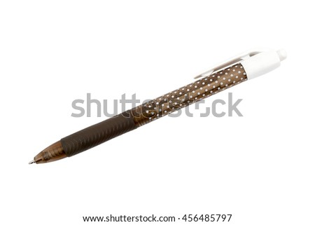 Black and white pen isolated on white background.Pen isolated on white