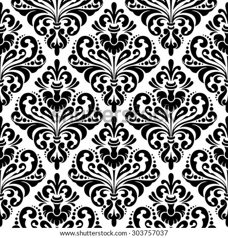 Black And White Wall Paper damask wallpaper patterns