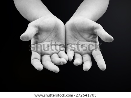 Empty Female Open Human Hands Palms Stock Photo 308183447 ...