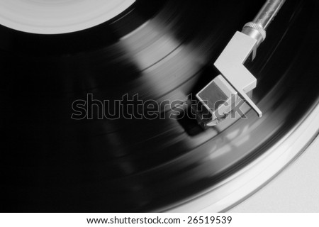 black and white vintage vinyl player