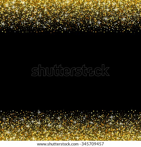Vector Gold Glitter Card Templates Banners Stock Vector 511654870