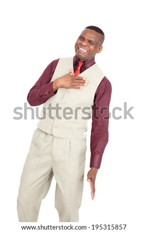 Black businessman posing