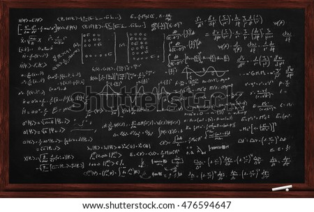Black chalk board with physics exercise on it