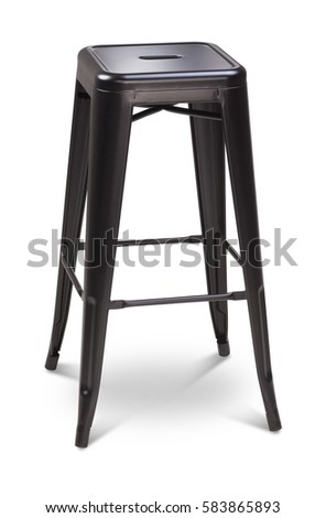 Black color high bar stool chair plastic metal chair modern designer.  sc 1 st  Shutterstock & Black Color High Spinning Wooden Bar Stock Photo 583865854 ... islam-shia.org