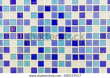 Black color mosaic tile on wall background