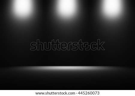 Black, dark grey background. Empty Gray Studio well use as background