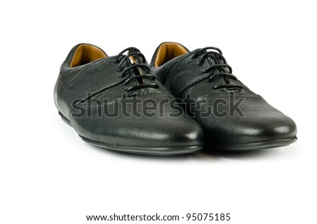 Black female shoes isolated on white