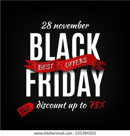black friday sale design template black stock vector 486328810 shutterstock. Black Bedroom Furniture Sets. Home Design Ideas