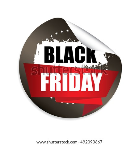 Black friday sale sticker button label and sign