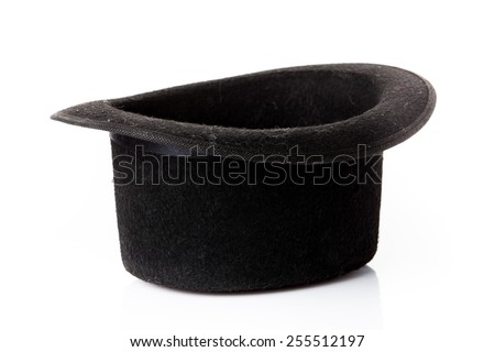 Black hat on white background.