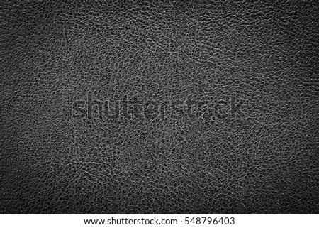 Black leather texture background for design with copy space for text or image. Pattern of leather that occurs natural.