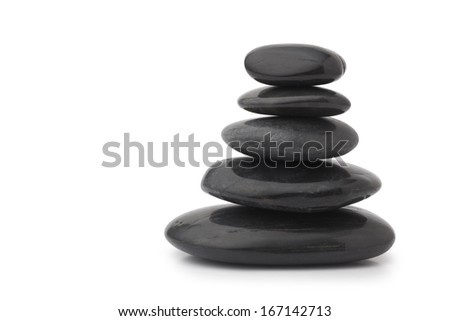 Black massage stones