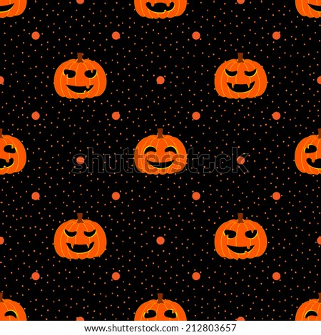 Black silhouette funny smiling pumpkins spider stock for Striped and polka dot pumpkins