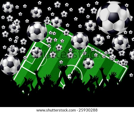 black soccer background