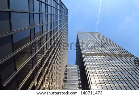 Black Steel High-Rise Urban Office Building