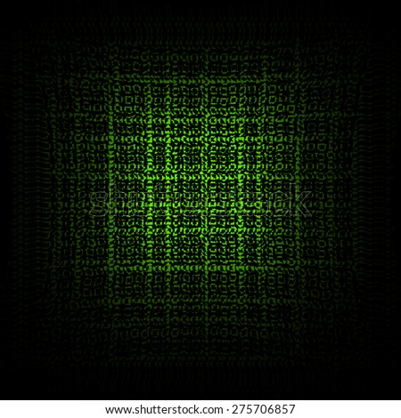 Black textured background with artistic effect green