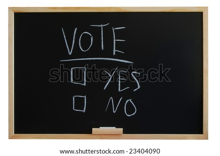 blackboard where you can vote yes or no